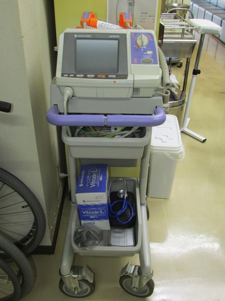 除細動器兼用心電図モニター